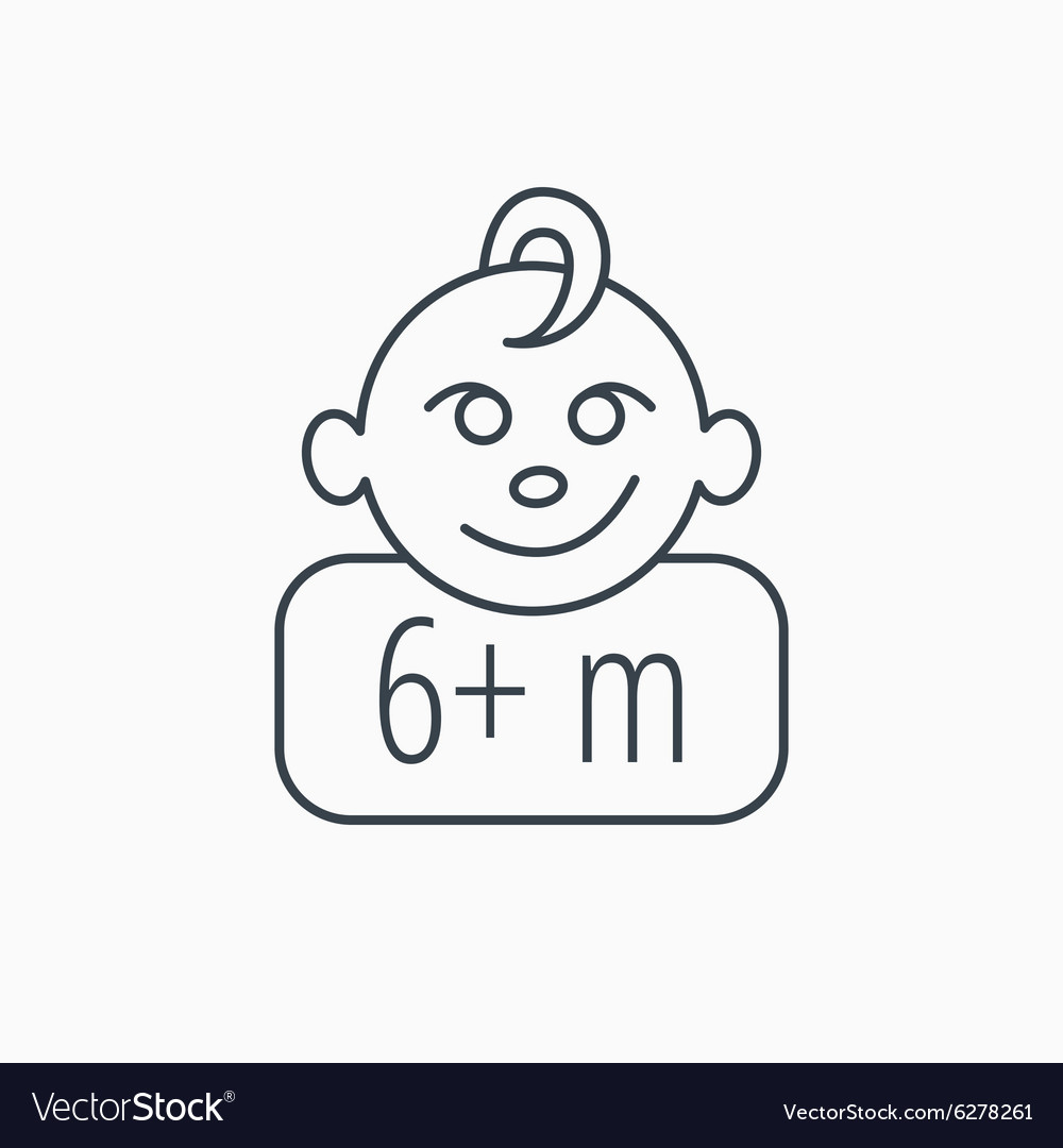 Baby face icon Newborn child sign
