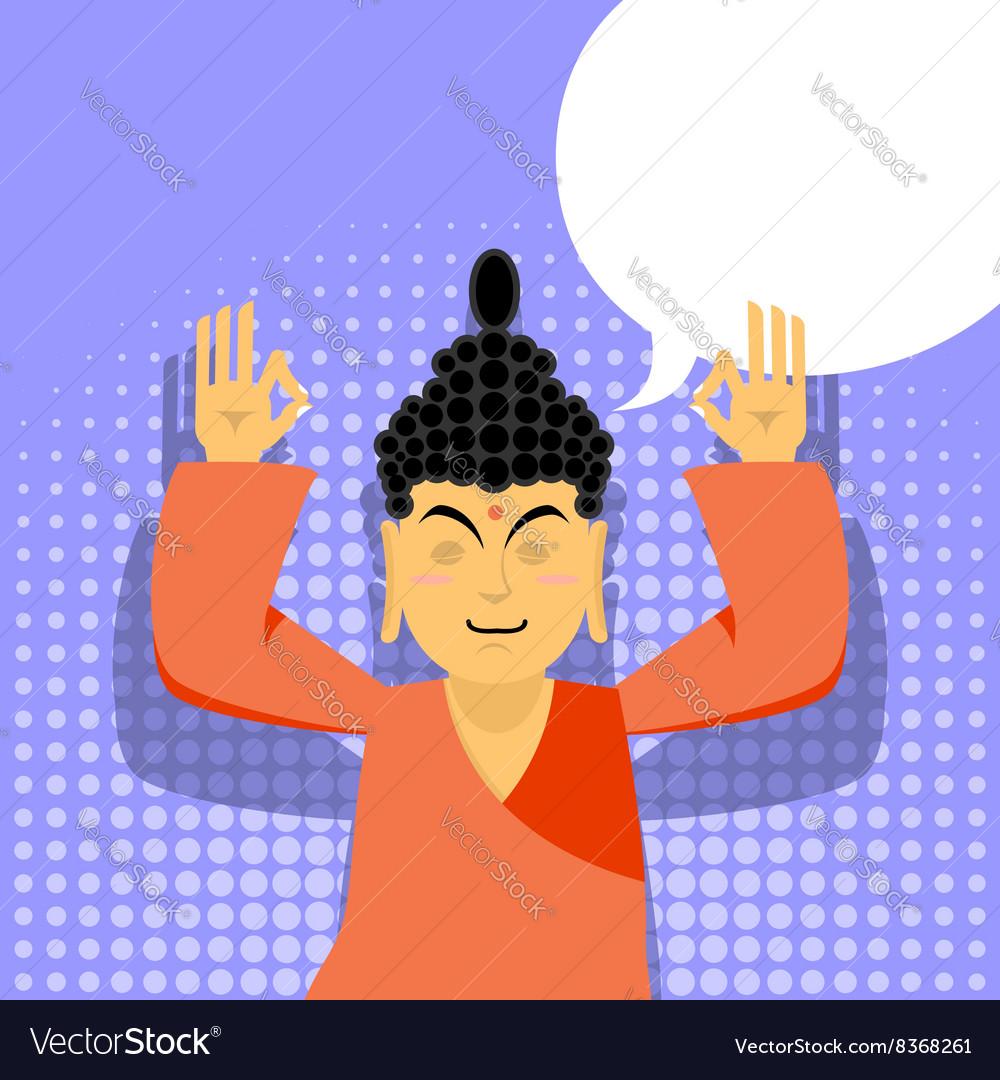 Buddha meditating Buddha in pop art style Indian