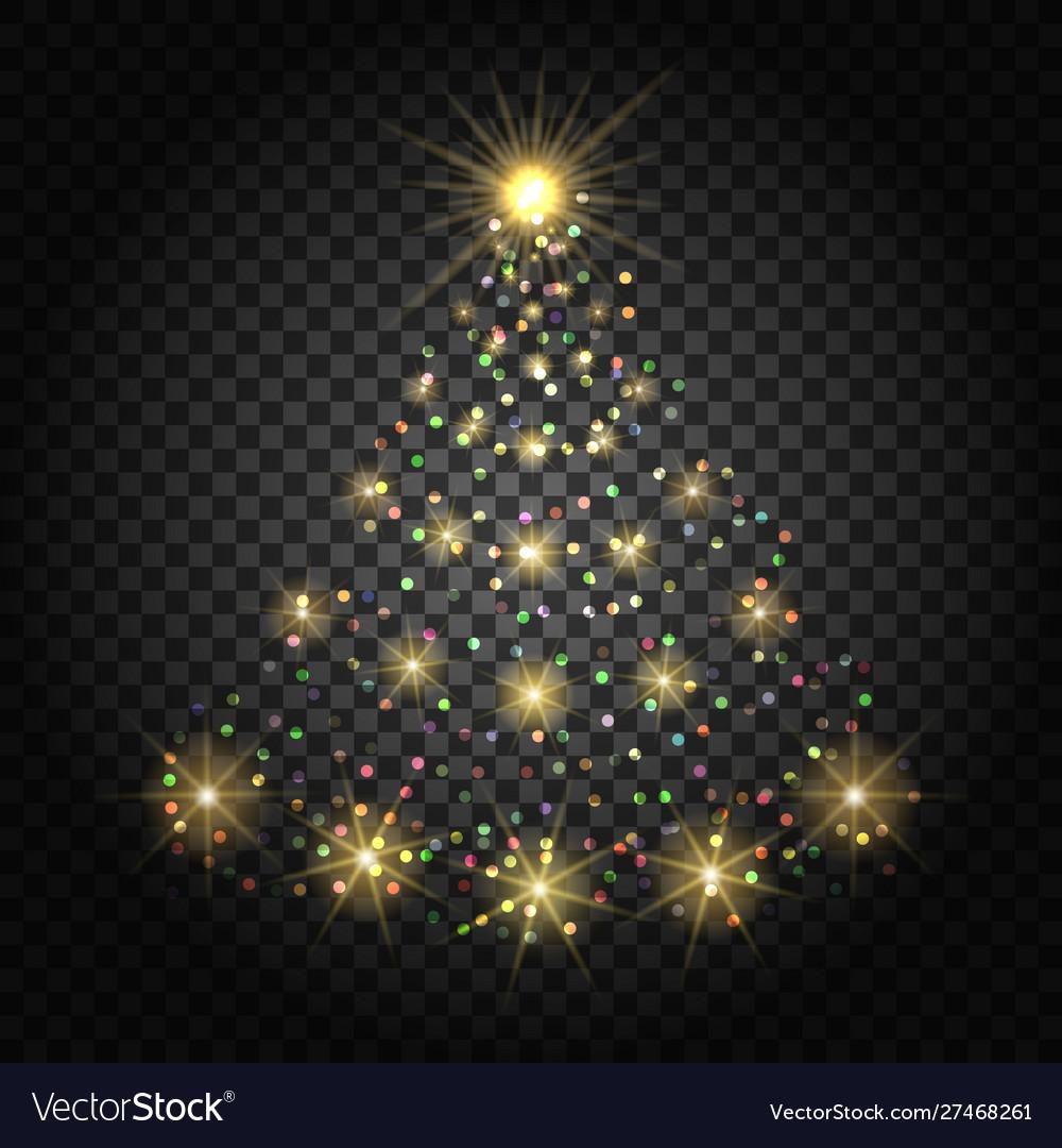 Confetti lights christmas tree
