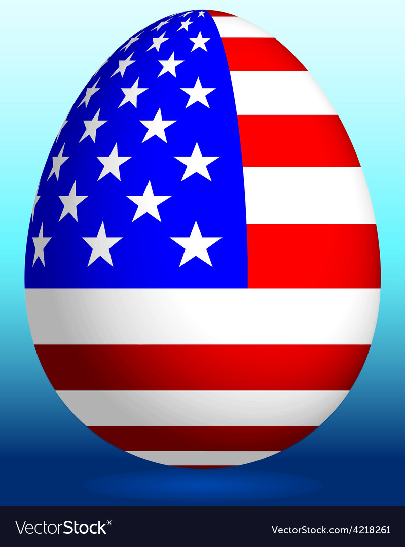 Easter egg with USA flag Royalty Free Vector Image
