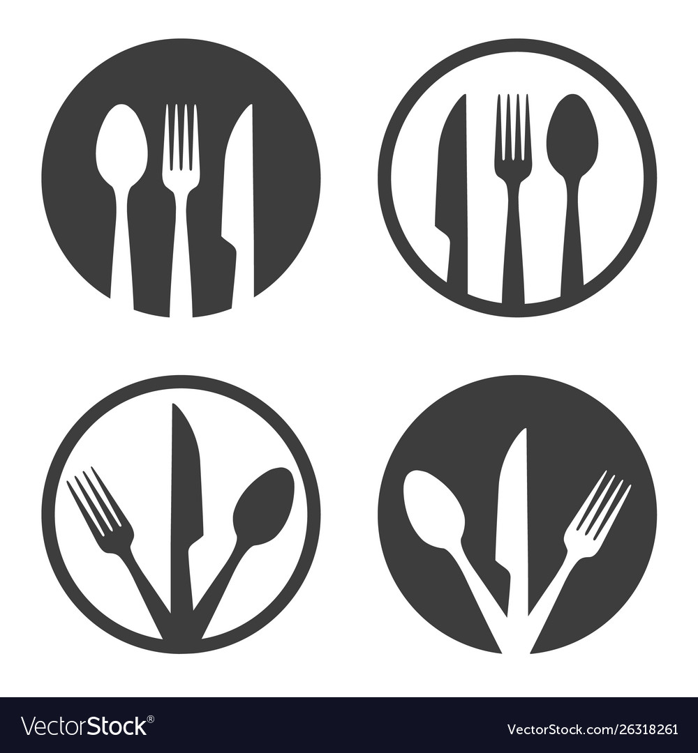 Fork knife spoon plate sign