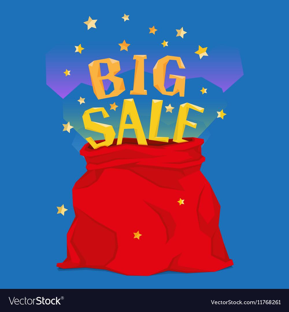 Santa Claus bag with big christmas sale