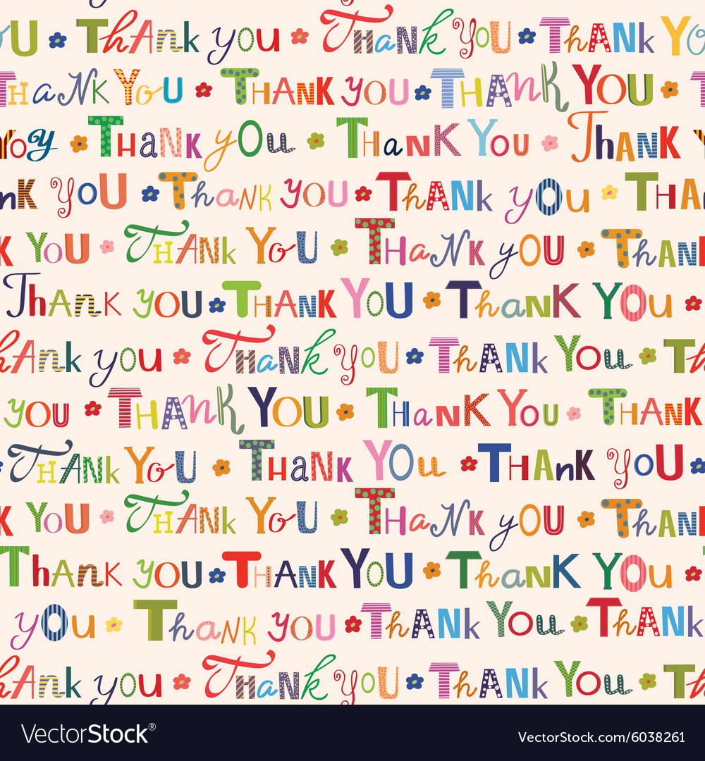 Thank you Colorful seamless pattern