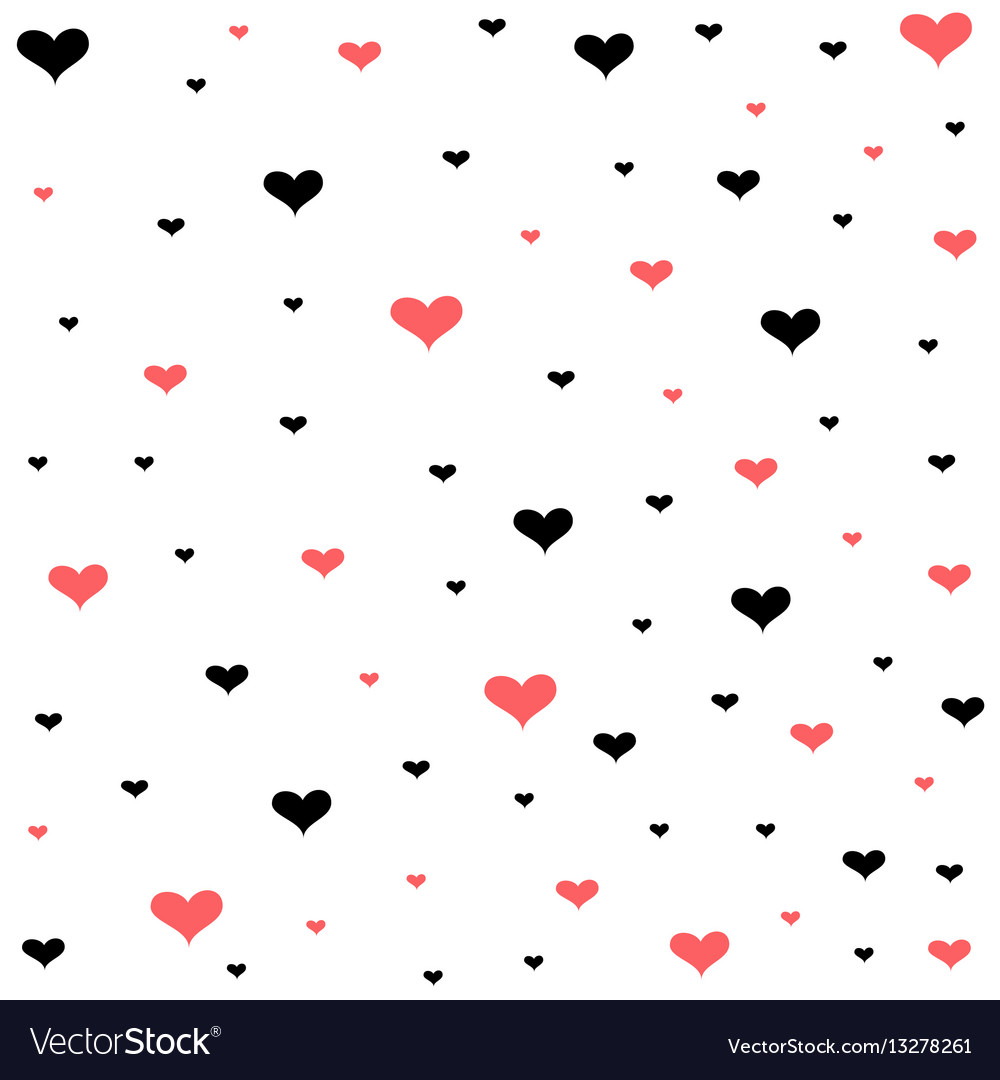 Valentines day card hearts background