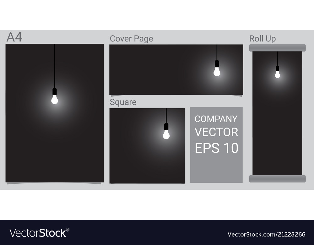 Abstract mock up realistic lamp and lighting