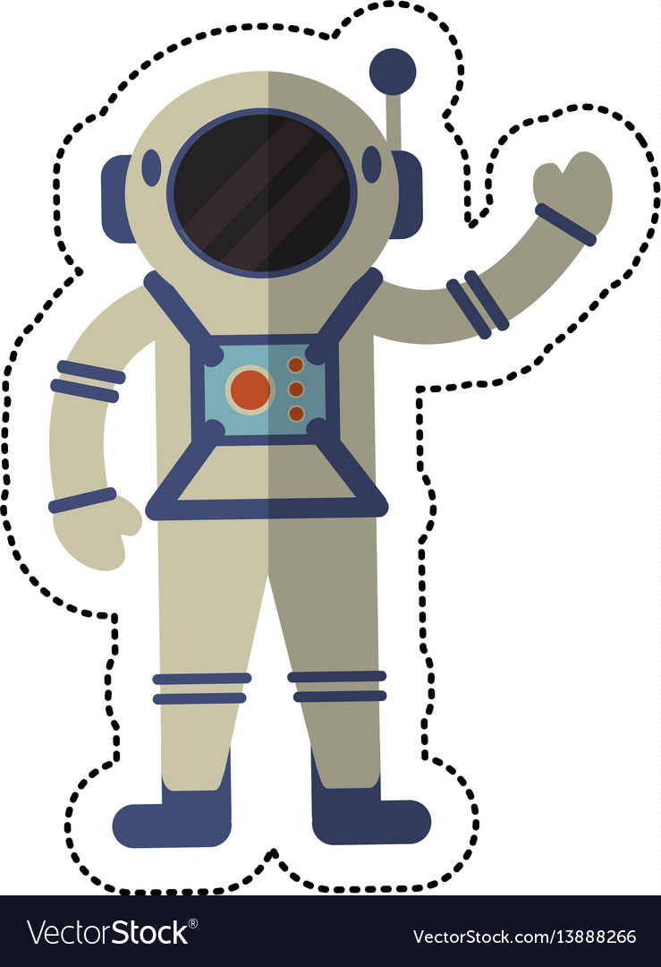 Astronaut exploration suit space shadow