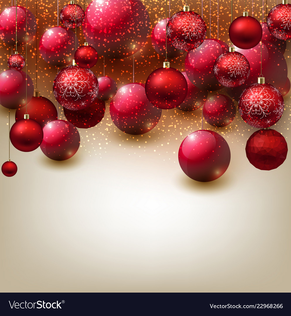 Beautiful Christmas Background Images.Beautiful Christmas Background With Red Balls R