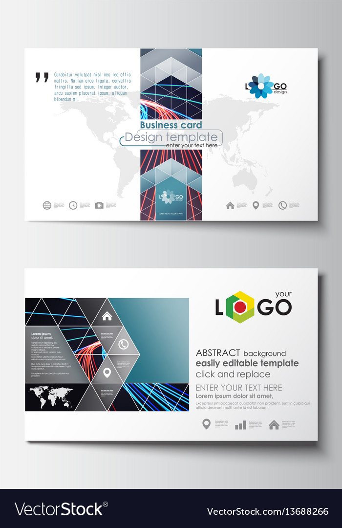 Business card templates cover template easy