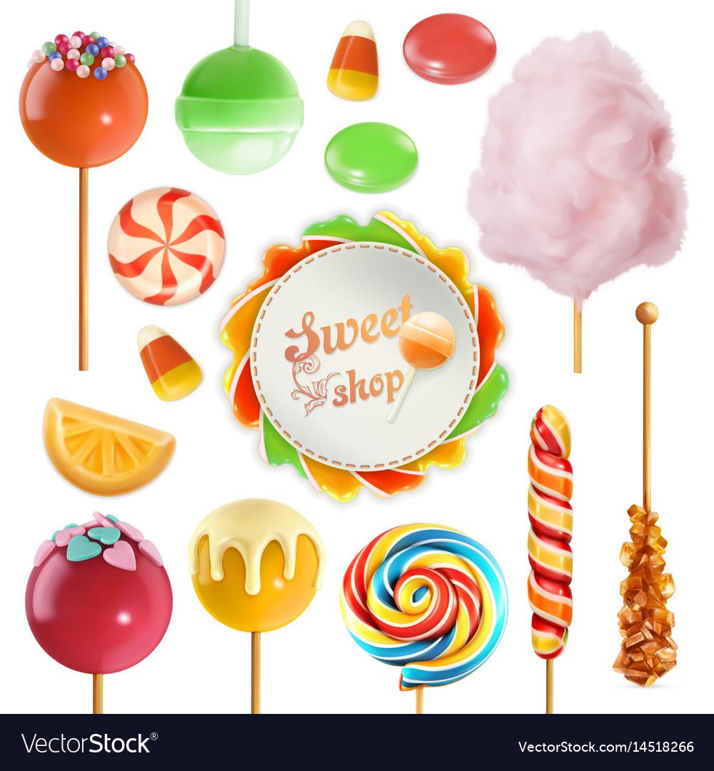 Candy set swirl caramel cotton sweet