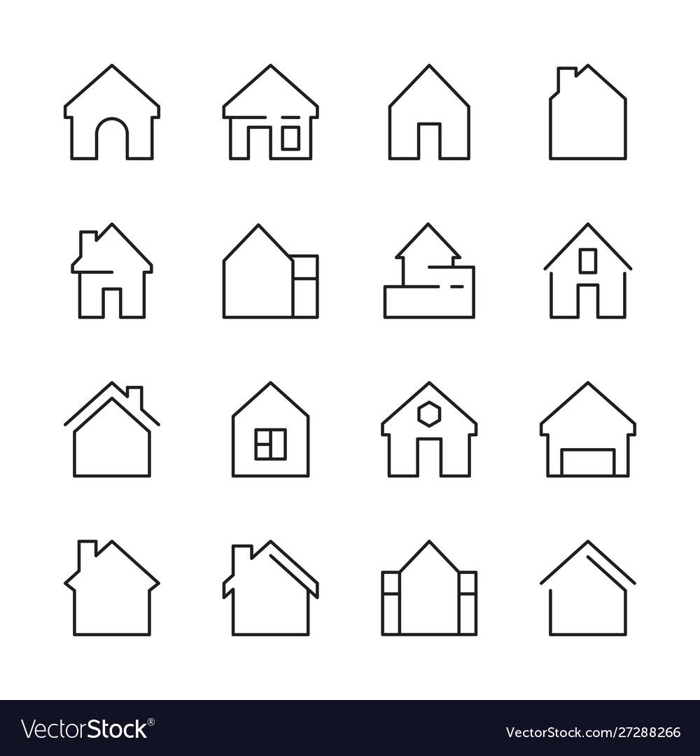 House icon web symbols buildings interior garage
