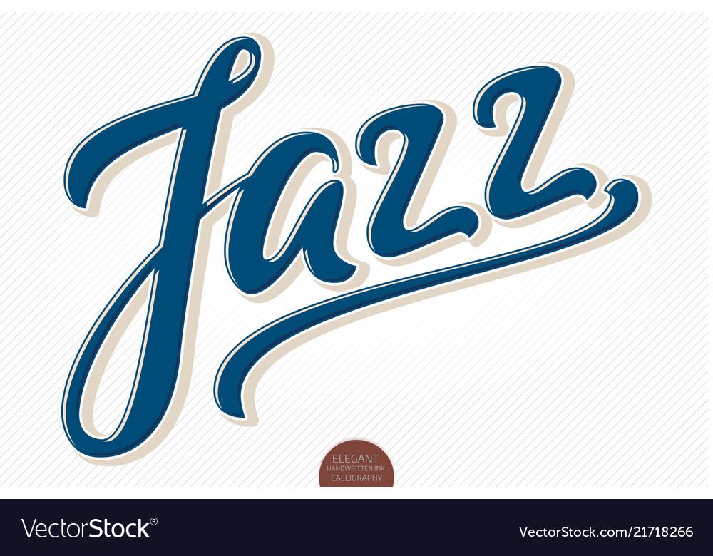 Jazz volumetric hand drawn lettering 3d