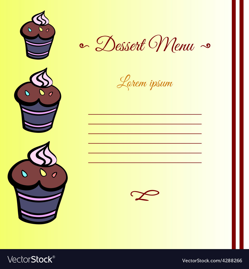 MuffinCard2 vector image