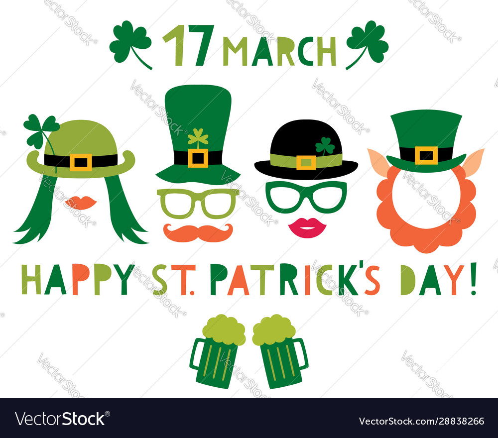 Saint patricks day and party props - hats