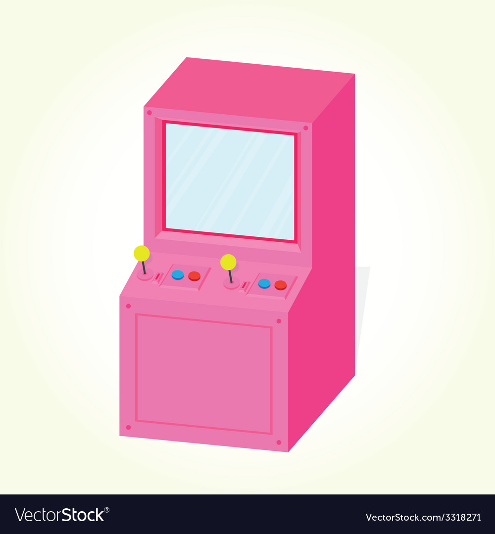Arcade machine cabinet isolated