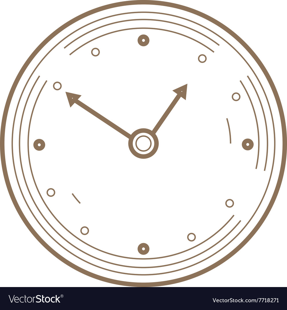 Flat Line watch Icon Creative vector image