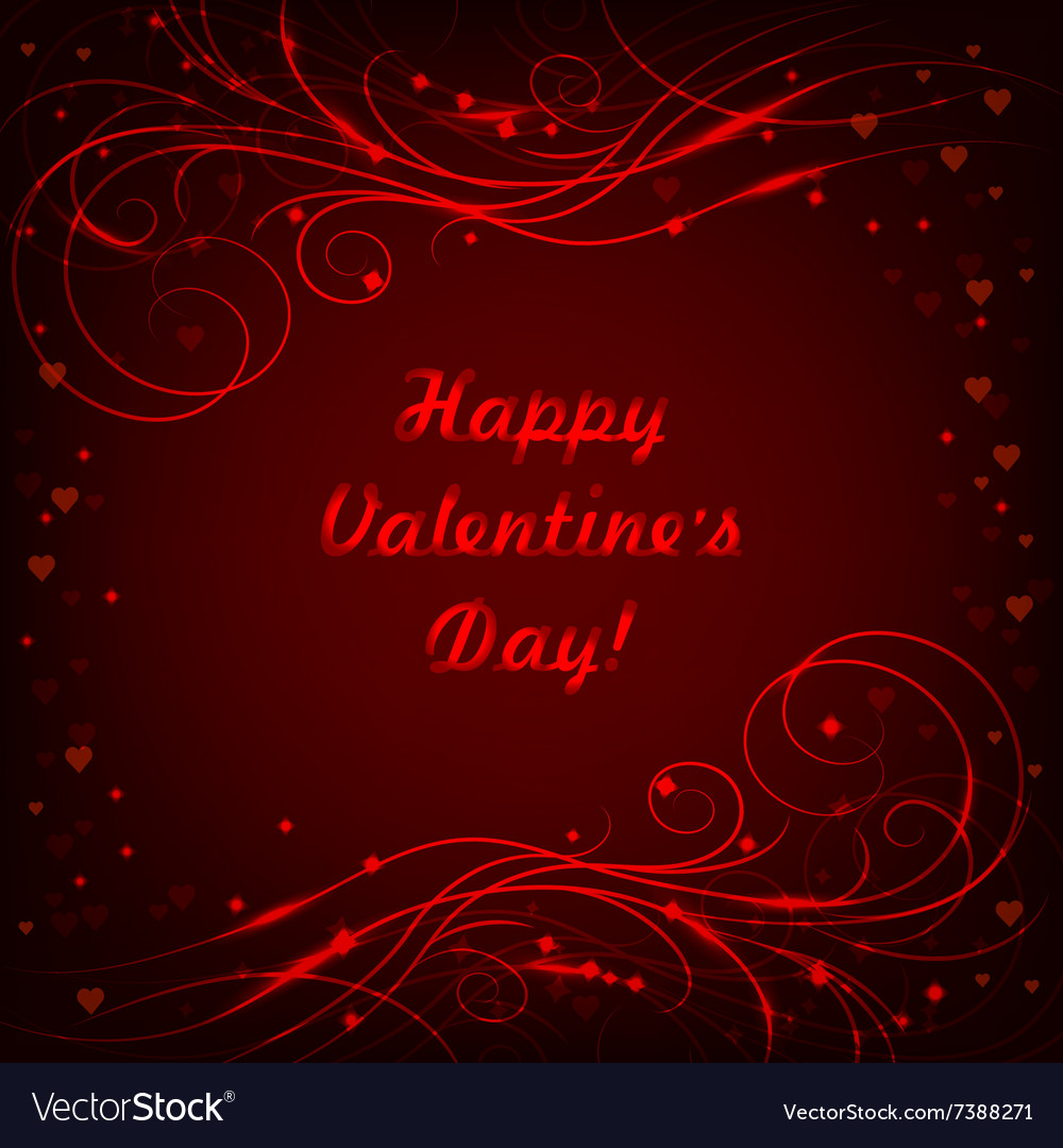Happy Valentines day lettering greeting card with