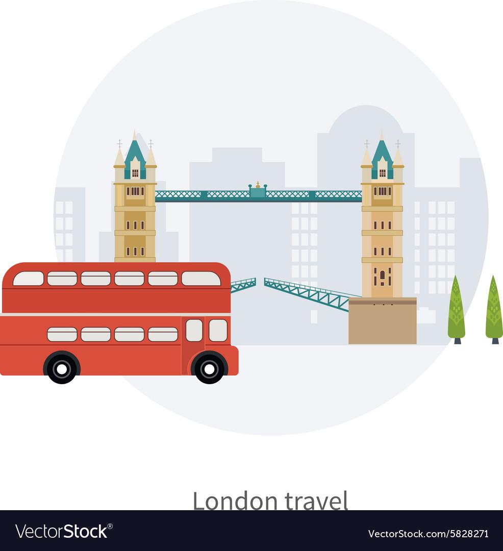 London United Kingdom Big Ben tower flat icons