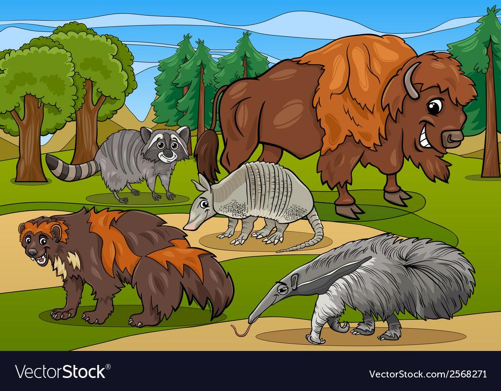 Mammals animals cartoon