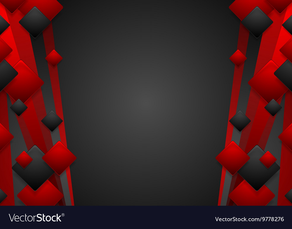 Abstract dark red tech corporate background vector image
