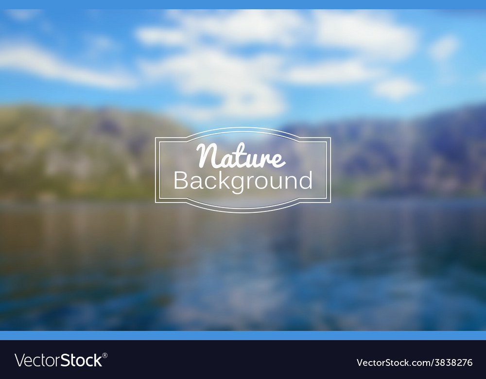 Blurred nature background Sea and