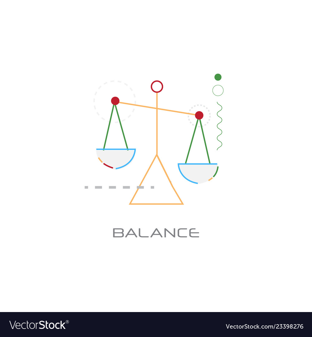 Business stability success balance scale icon