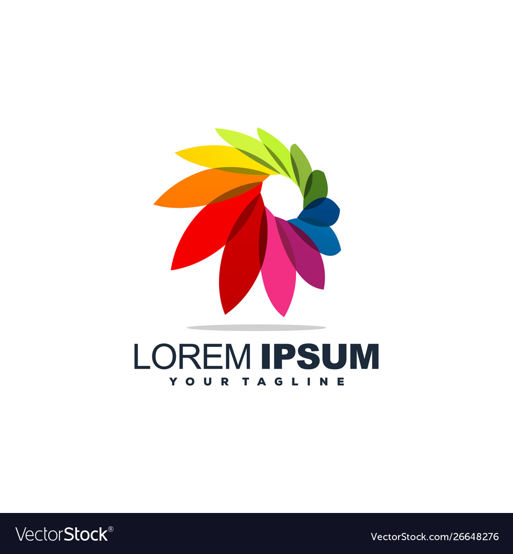 Color full abstract logo design