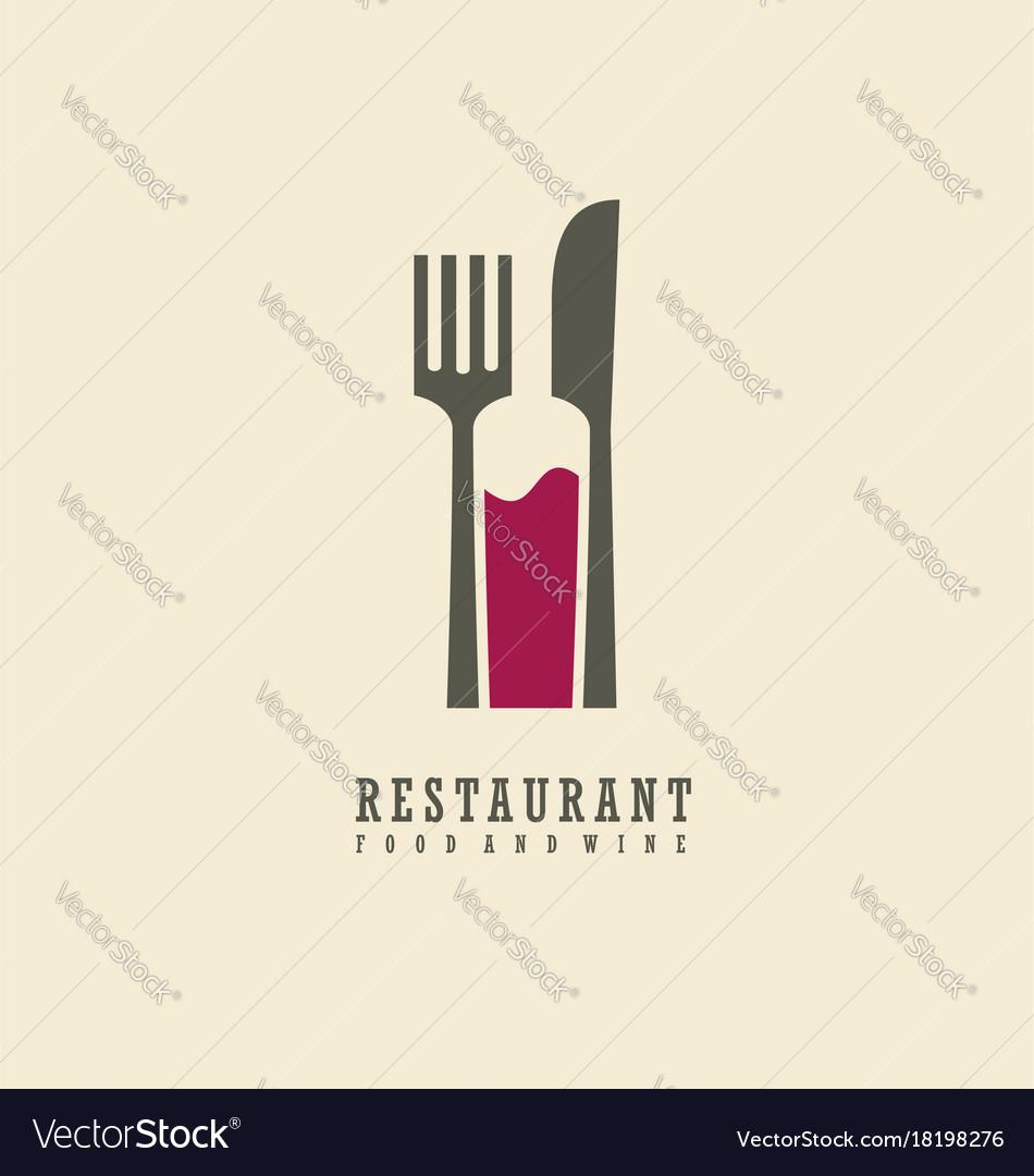 Food and wine symbol design