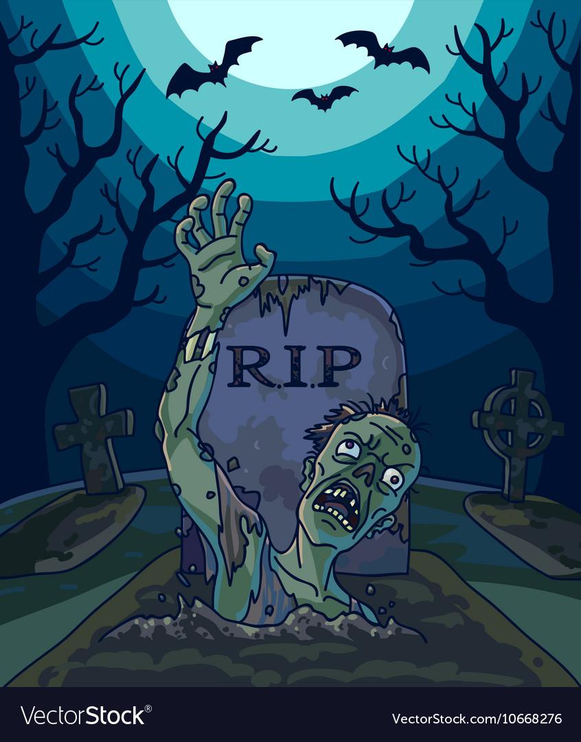 Halloween with spooky zombie