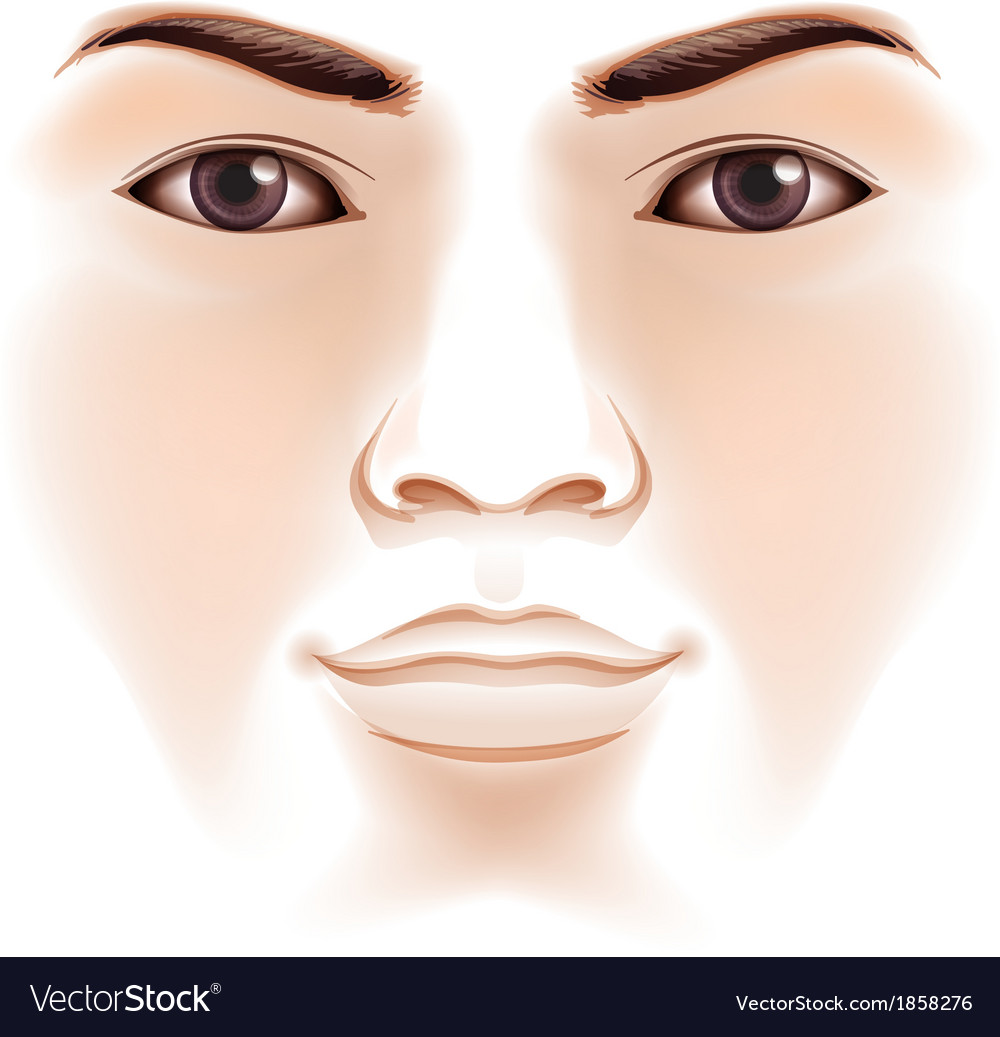Human face vector free download - photo#2