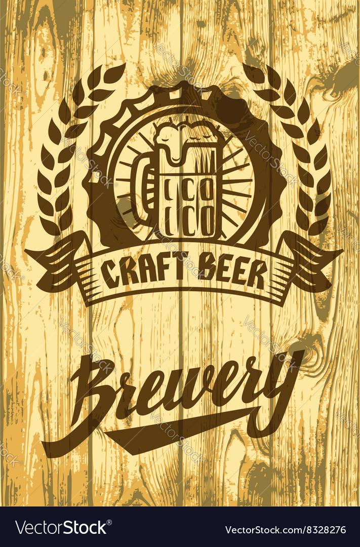 Label with beer mug