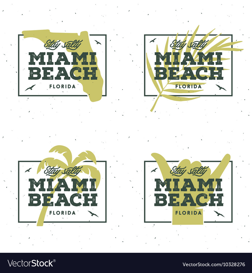 Miami beach florida t-shirt design vintage