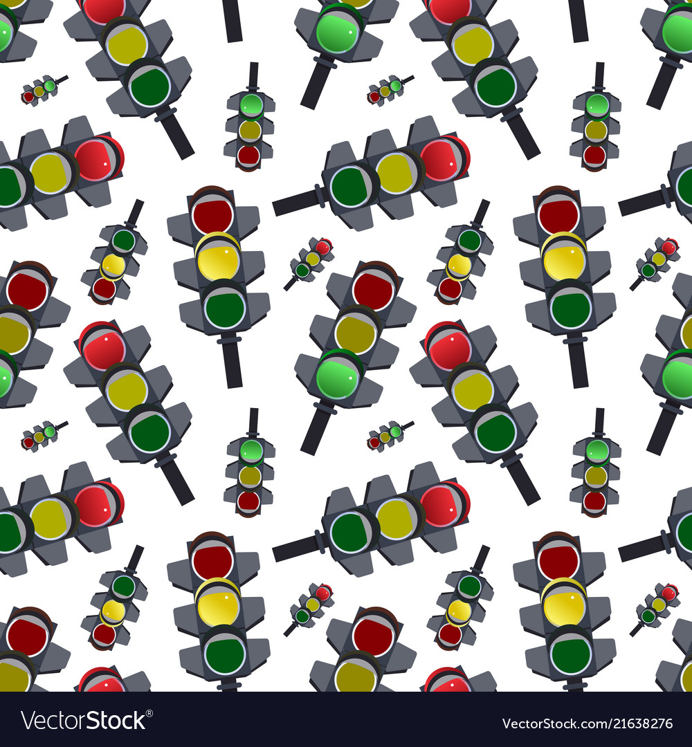 Seamless abstract pattern traffic lights