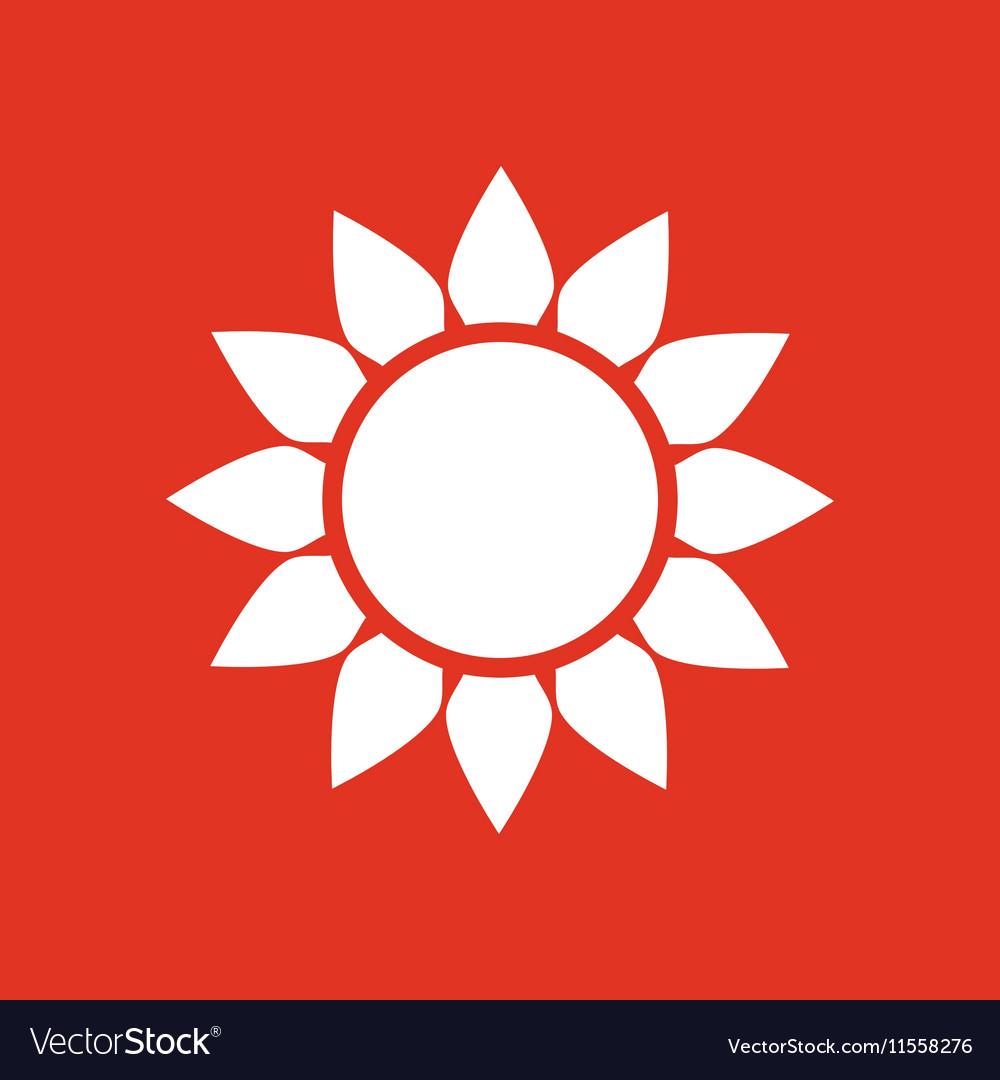The weather icon Sunrise and sunshine weather