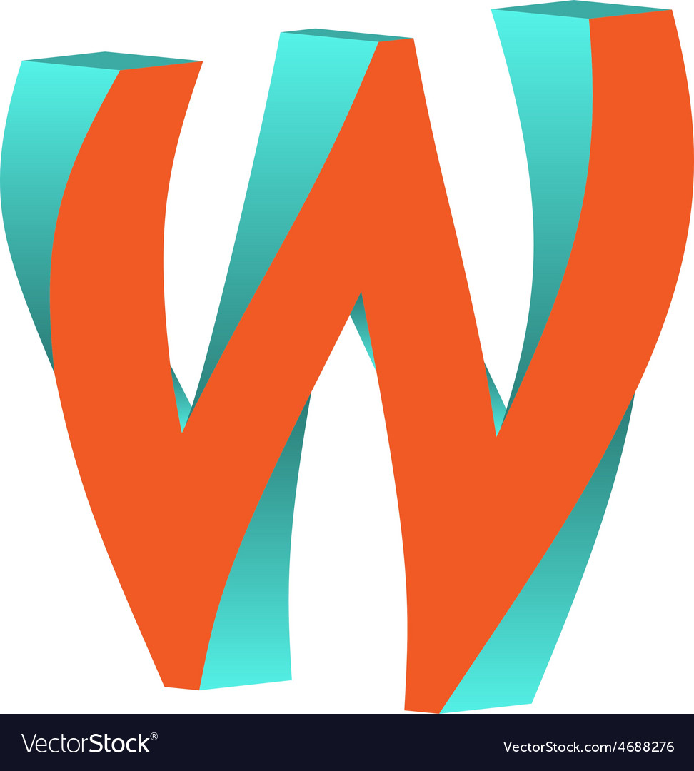 Twisted Letter W Logo Icon Design Template Element vector image