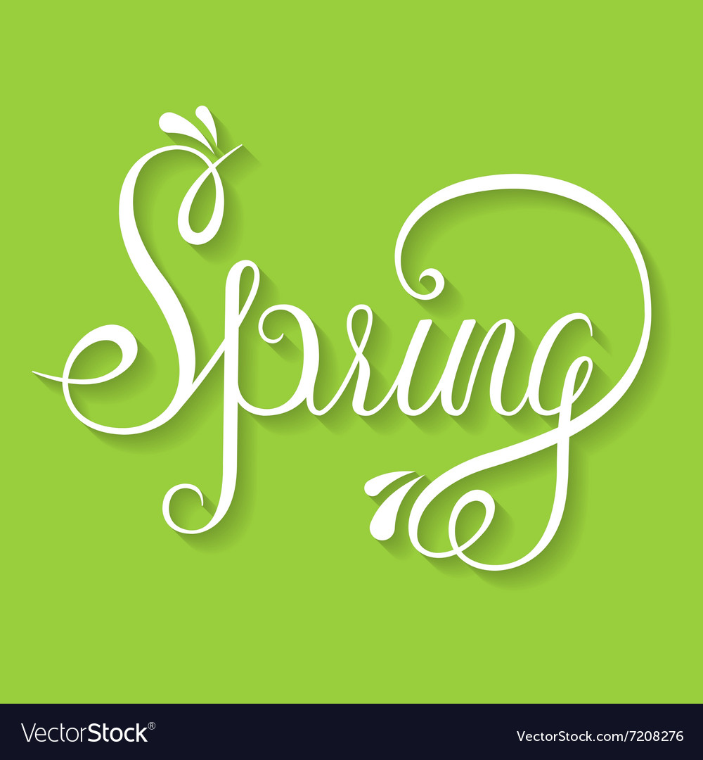 Typographic Lettering - Spring