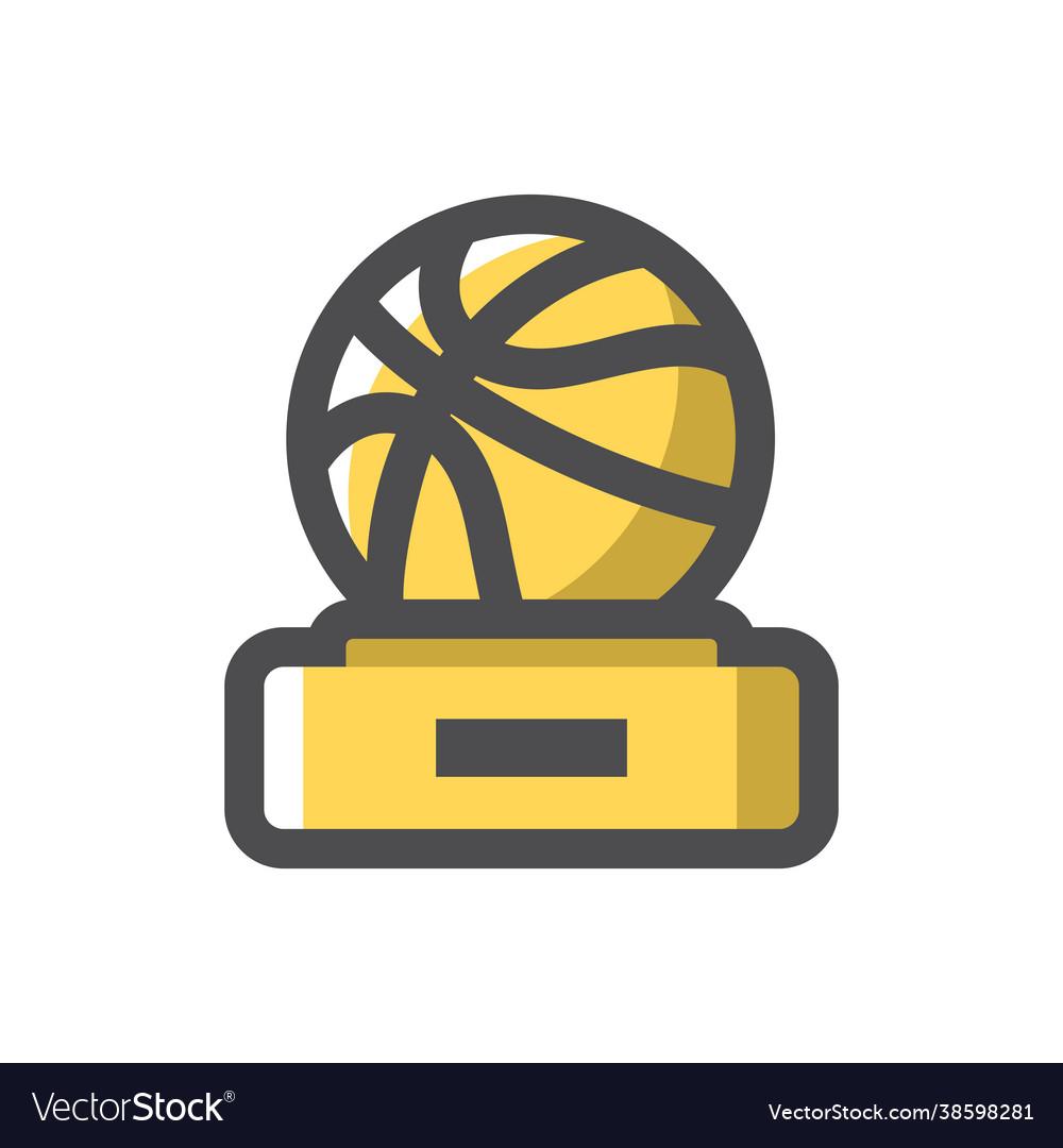Basketball award gold cup icon cartoon
