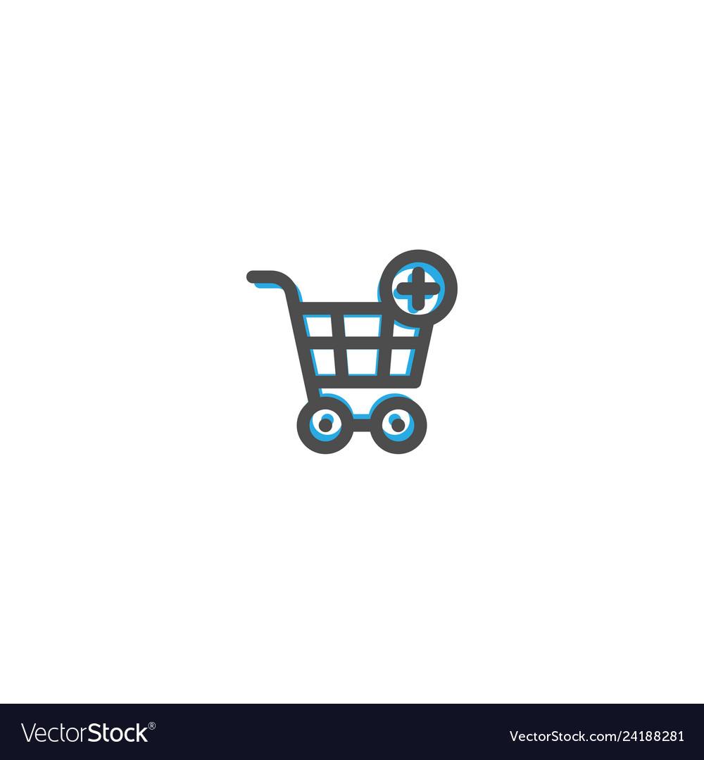 Cart icon line design e commerce icon