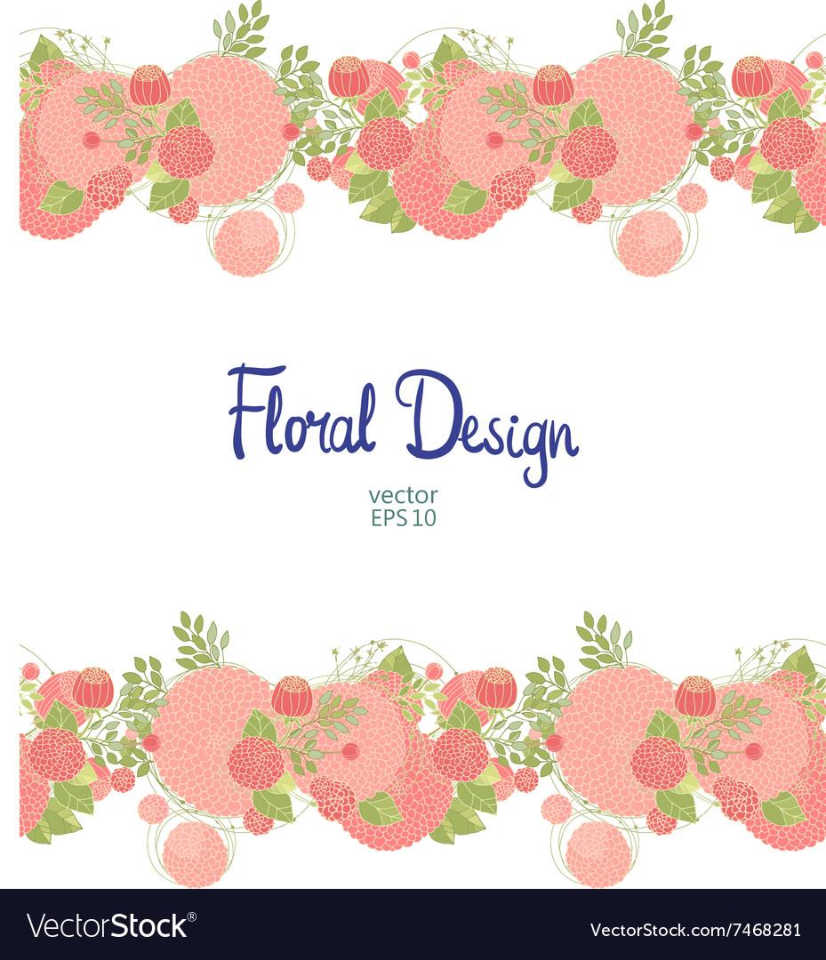 Horisontal floral border