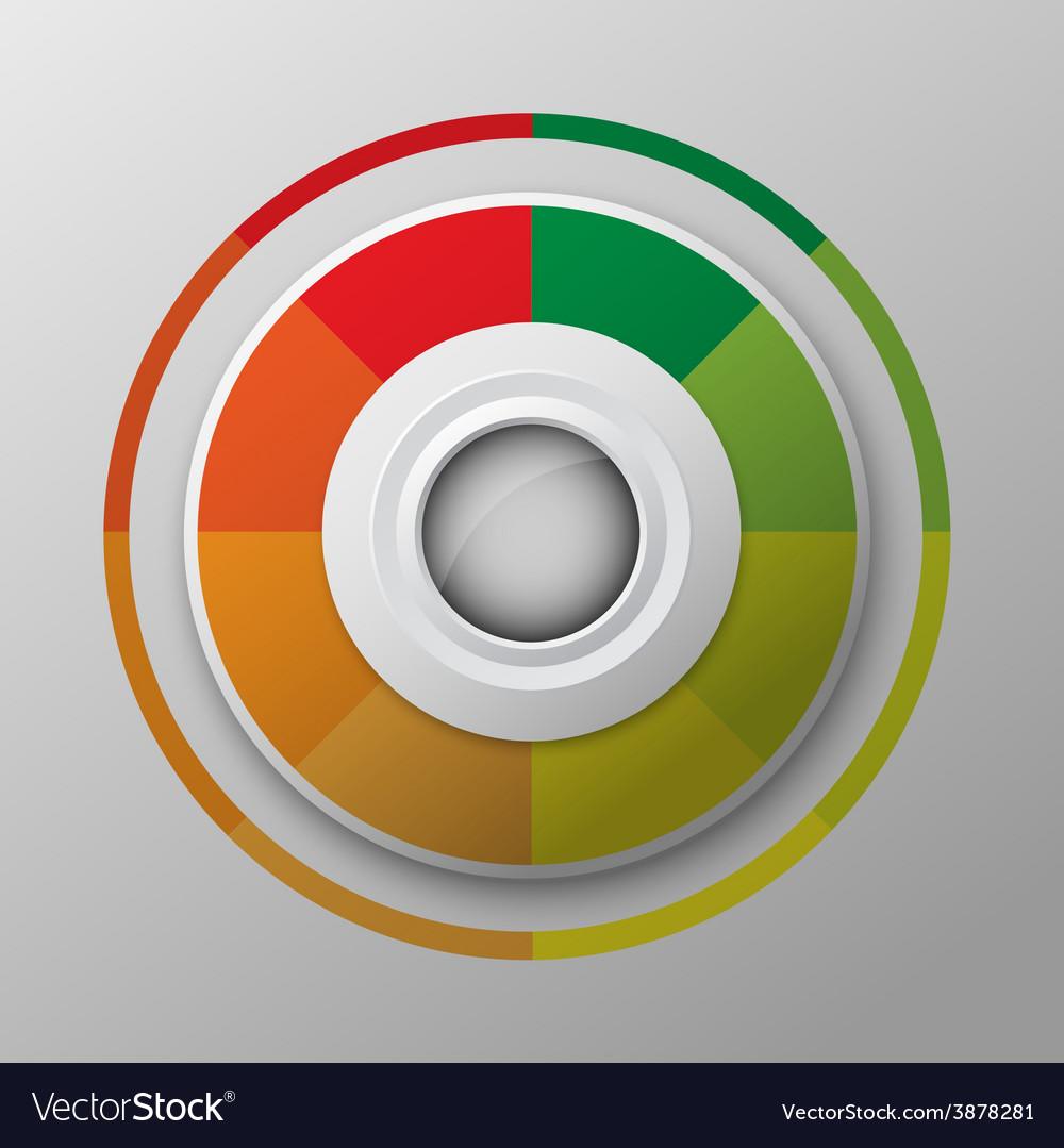 Modern circle button design vector image