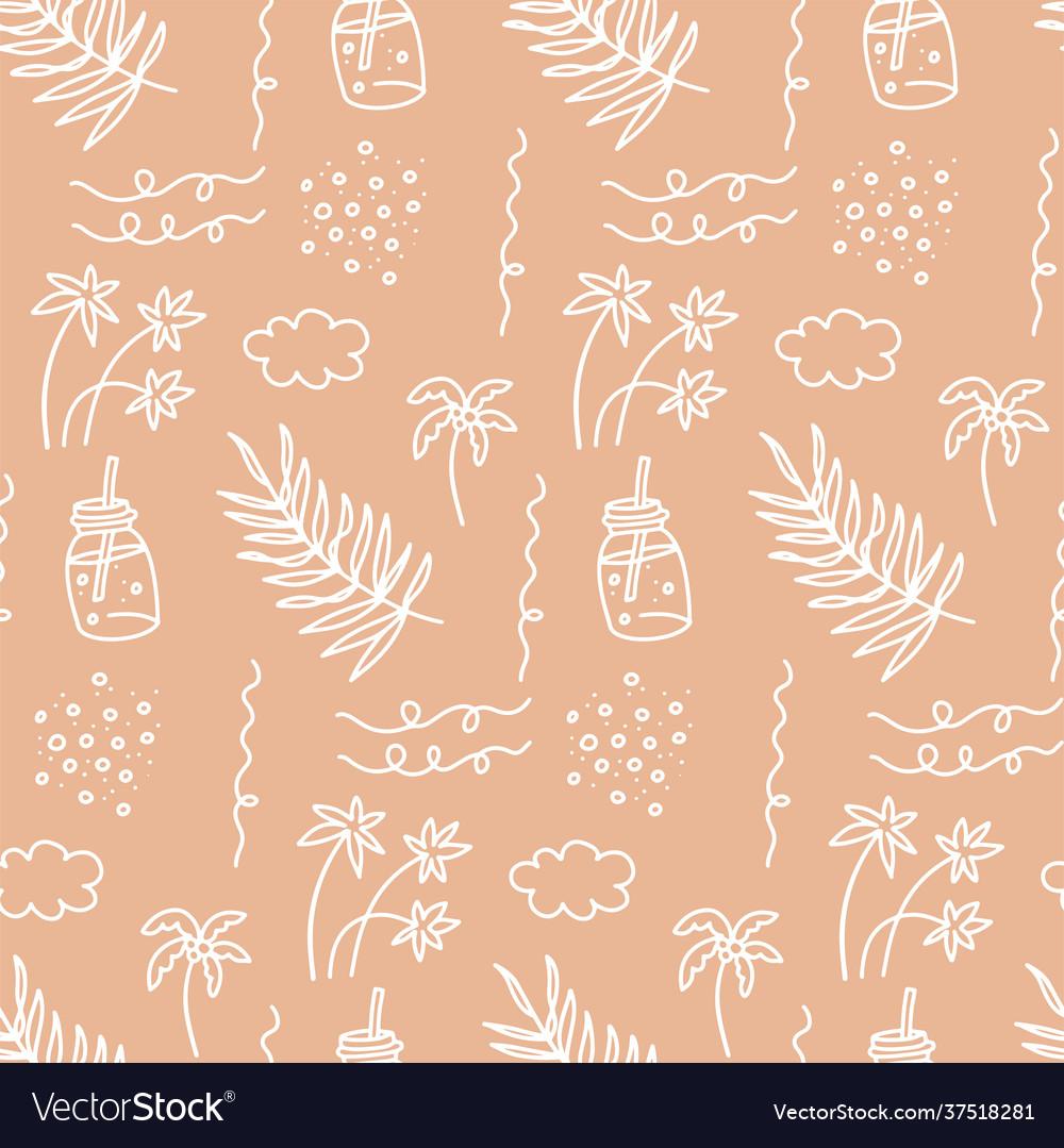 Sunner beach seamless pattern beautiful summer
