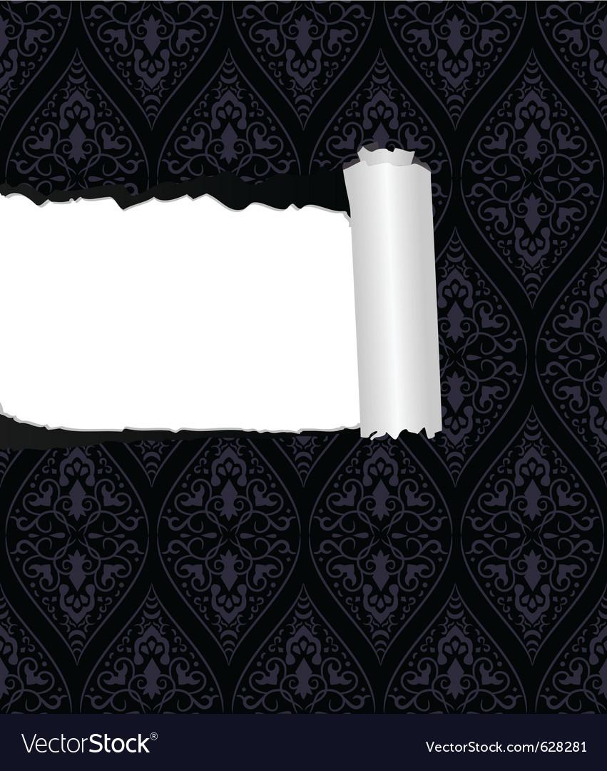 Torn wallpaper vector image