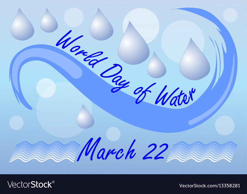 World day of water march 22 billboard or banner