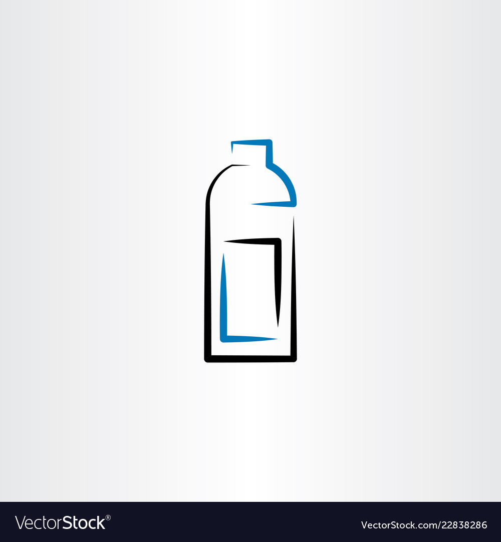 Bottle icon symbol line