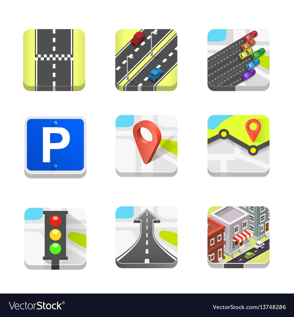 Collection road icons
