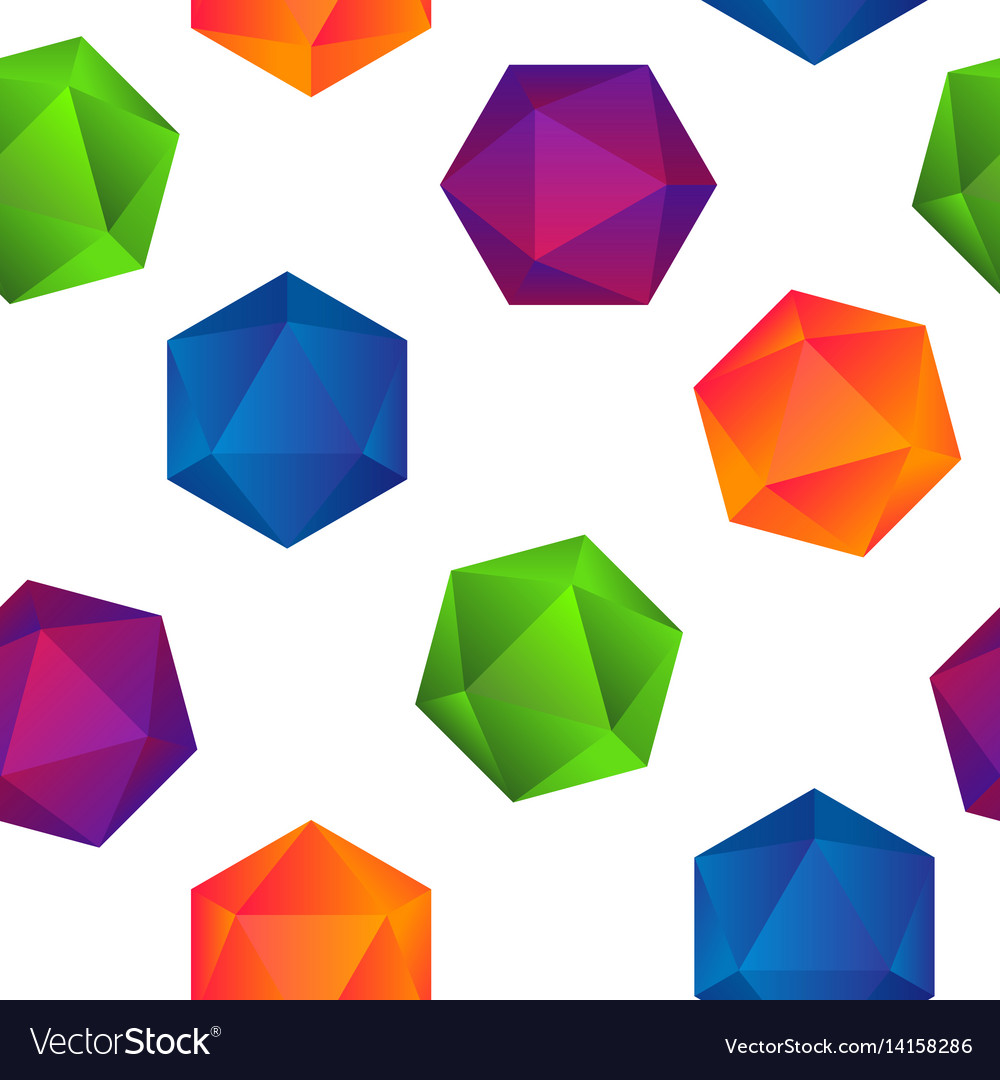 Colorful gradient diamonds seamless pattern on