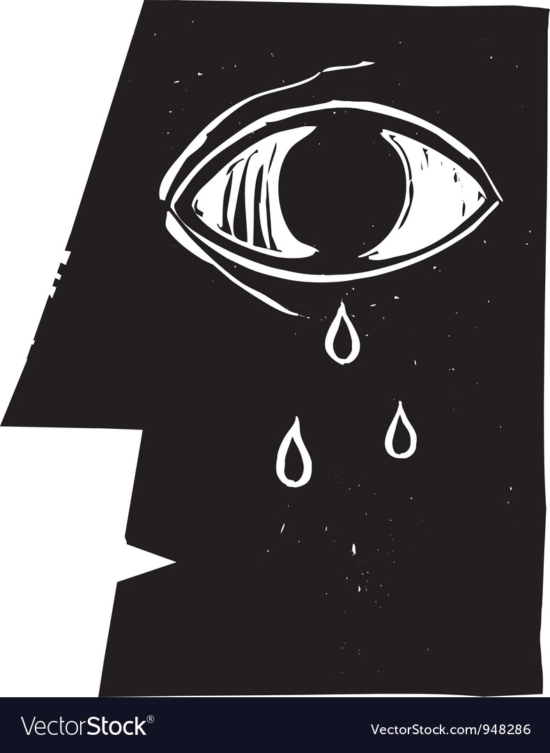 Crying Eye vector image