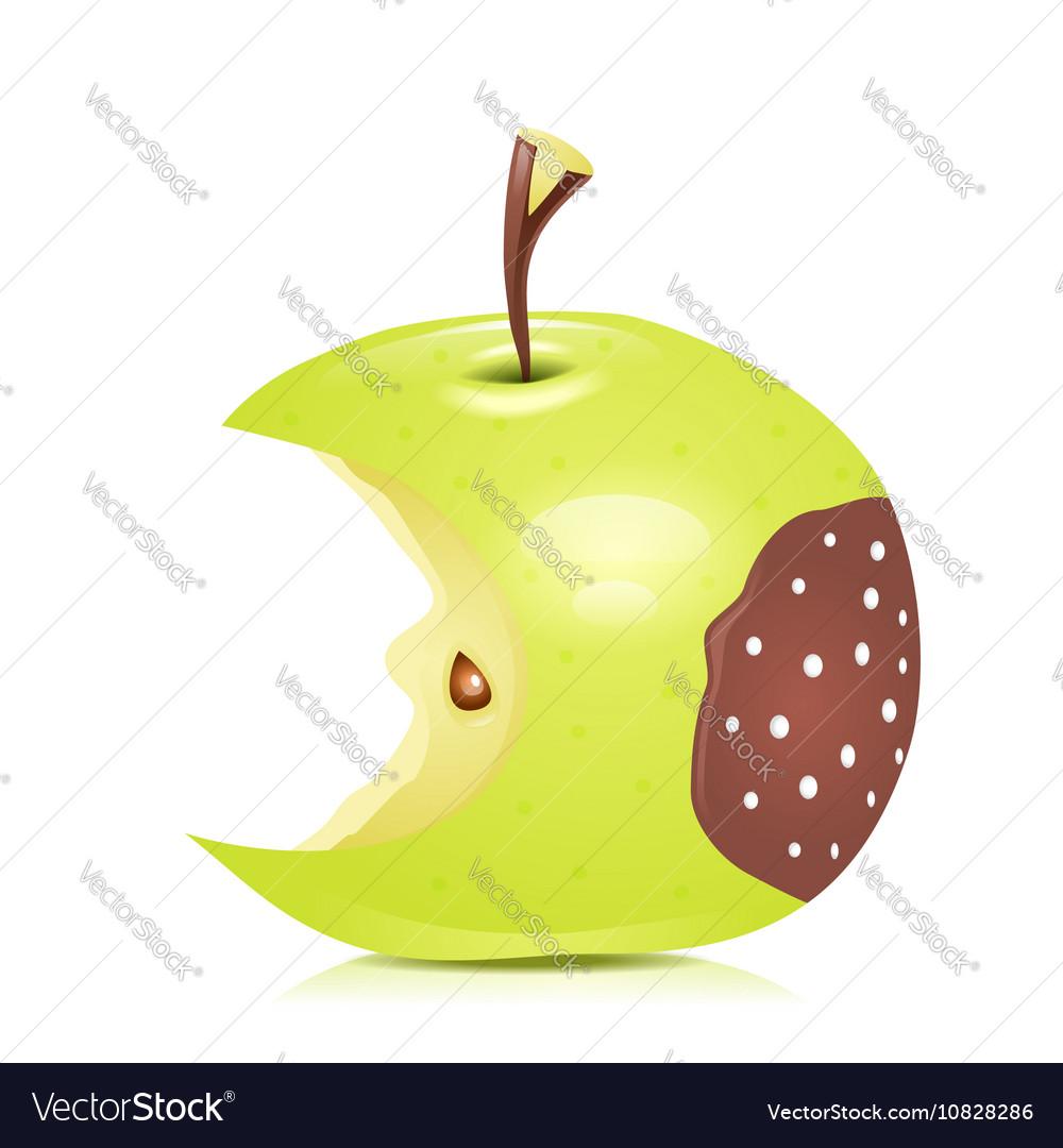 Eated rotten apple