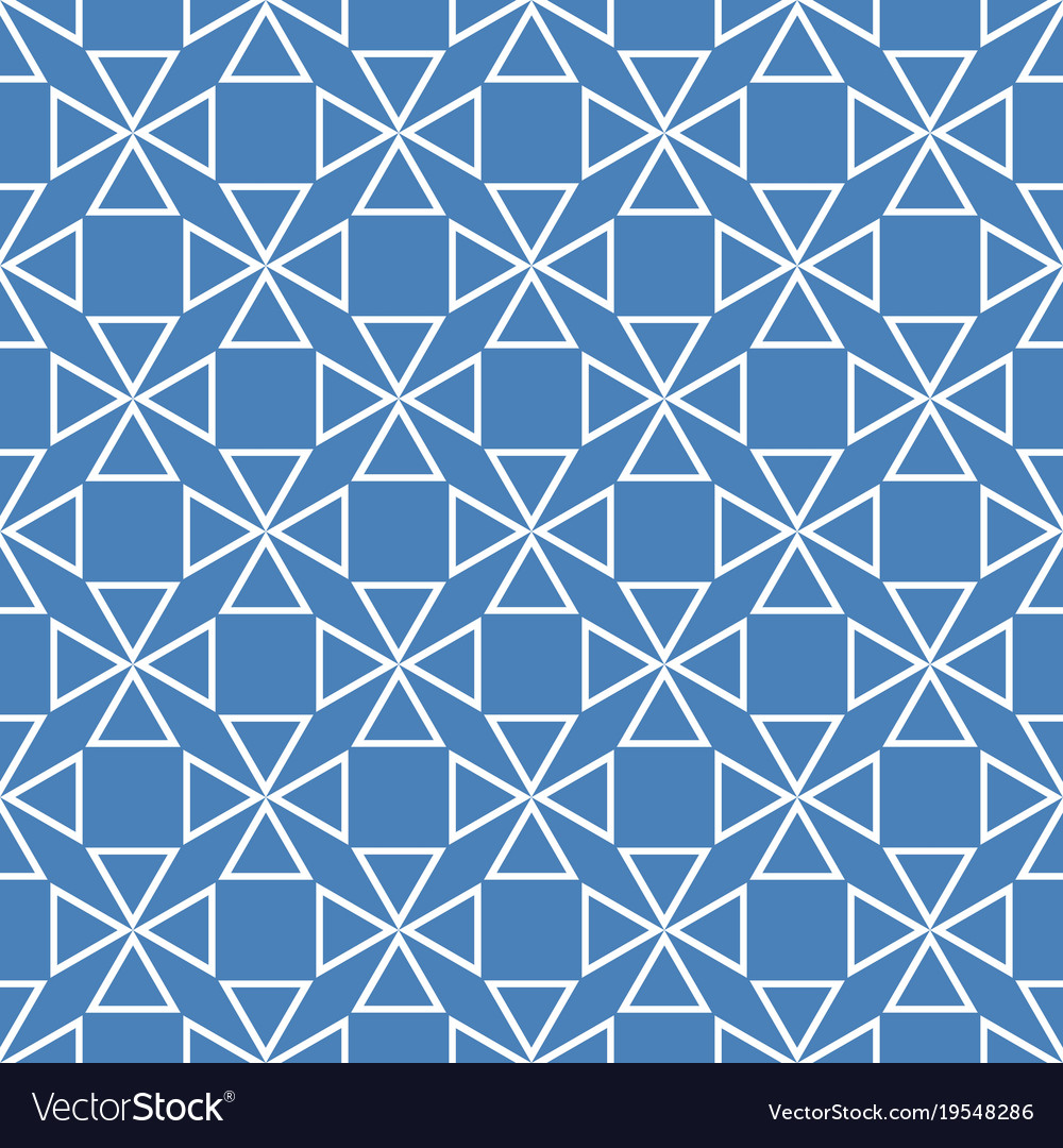 Tile pattern with blue and white background Vector Image