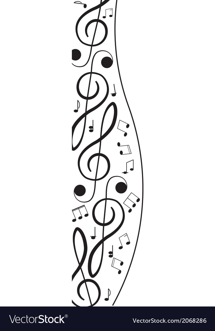 Treble clef for your design a
