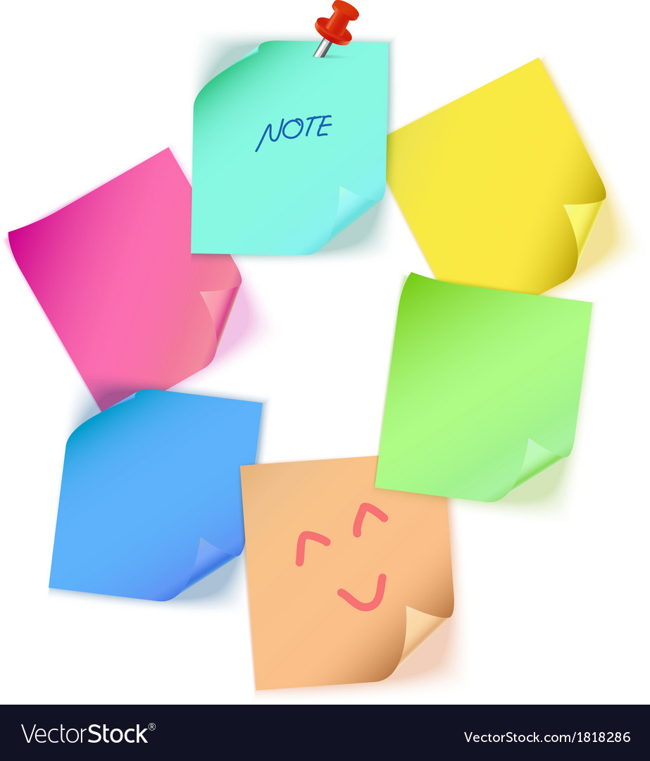 Various color paper note
